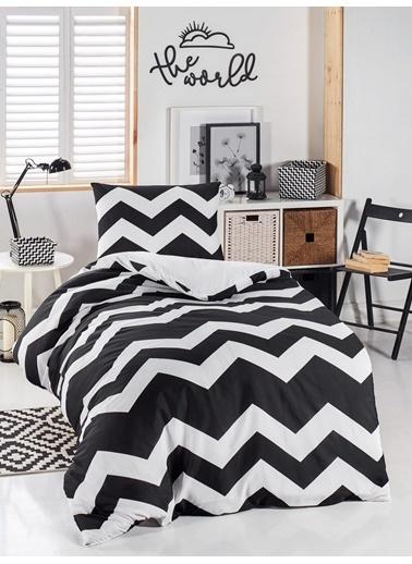Eponj Home Junior Nevresim Seti Tek Kişilik BigZigzag Siyah-Beyaz Siyah